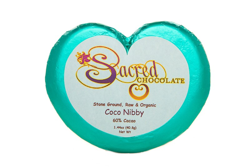 Coco Nibby 60% Cacao Heart Bar