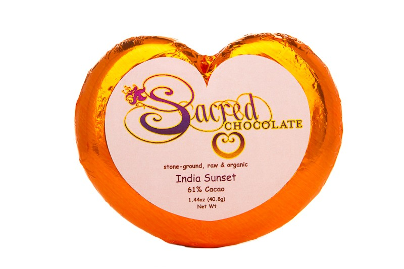 India Sunset 61% Cacao 1.44oz Heart Bar