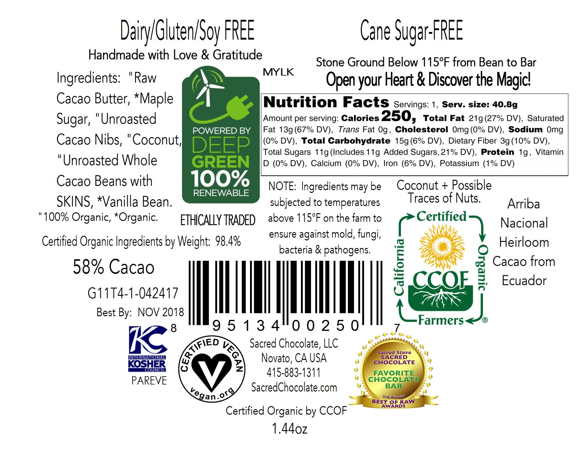 Mylk Back Label
