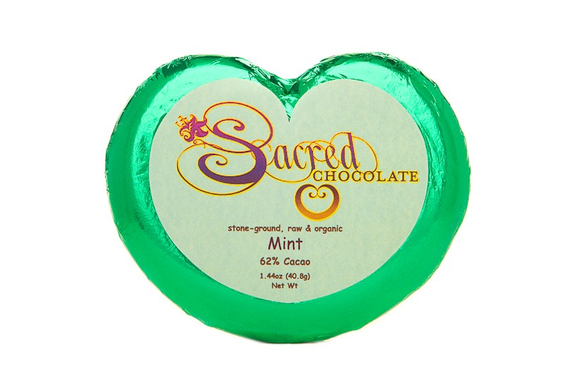 Mint 62% Cacao Heart Bar