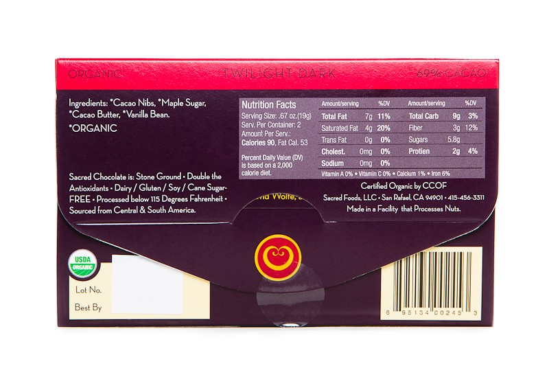 Twilight Dark 69% Cacao Nutritional Facts