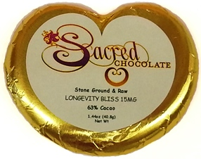 Longevity Bliss 15MG - 1.44oz Heart Bar